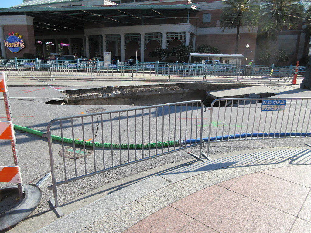 """Canal Street Sinkhole"" by Infrogmation is licensed under CC BY 2.0"